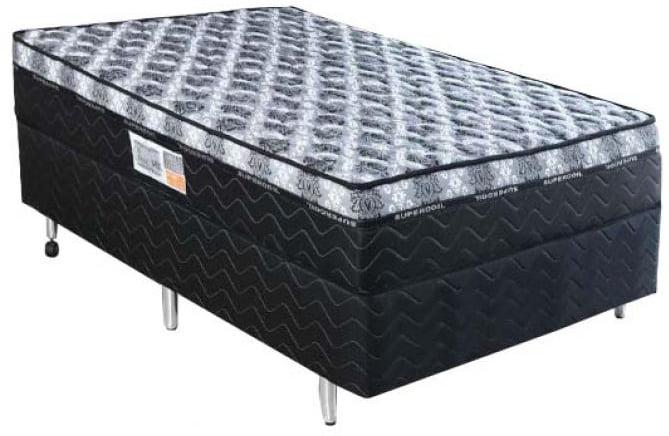 CAMA BOX SOLTEIRO DE ESPUMA COMFORT 88X188X65