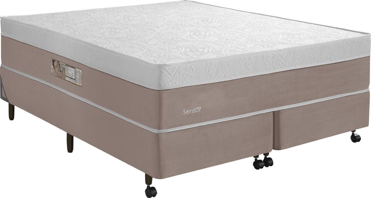 CAMA BOX QUEEN SIZE MOLAS ENSACADAS MADRI 158X198X70