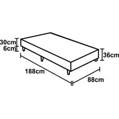 BOX BICAMA SOLTEIRO C/ AUXILIAR DE MOLA BONNEL 88X188X38